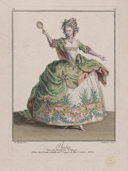 《ヴィーナス…『ギャルリー・デ・モード・エ・コスチューム・フランセ』フランスの衣服25、1779年の流行の衣服19より aa.150》