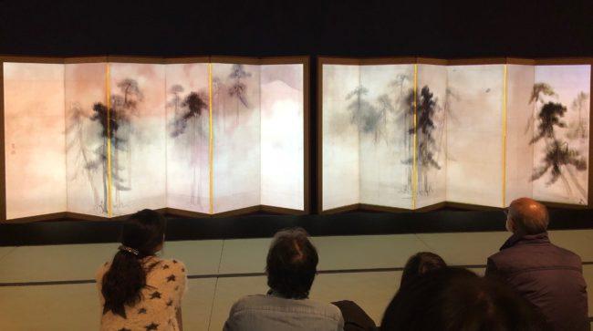 《松林図屏風》インスタレーションの様子