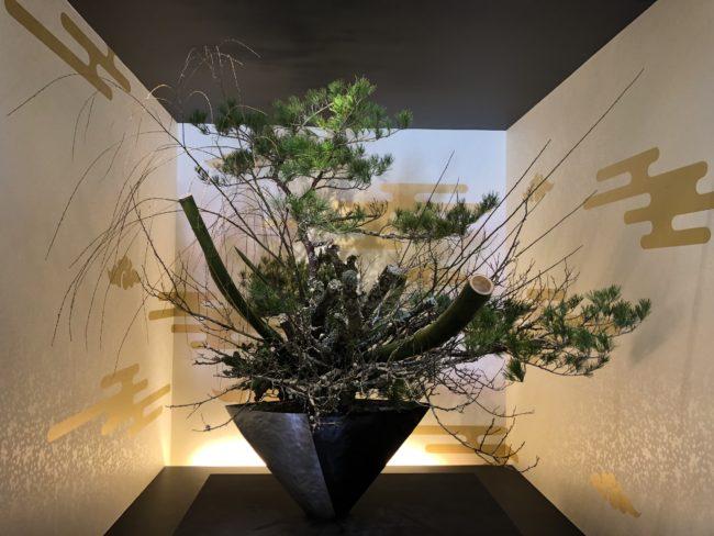 東京国立博物館にて2019年正月に展示された池坊のいけばな
