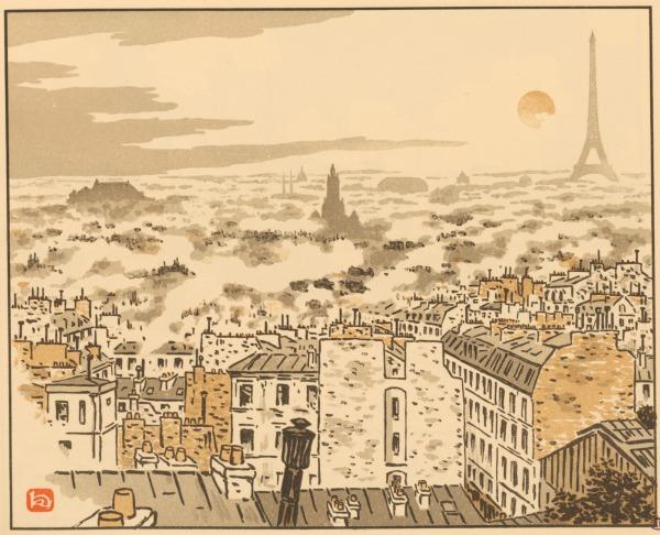アンリ・リヴィエール『エッフェル塔三十六景』より《XIX. アベス通りより》