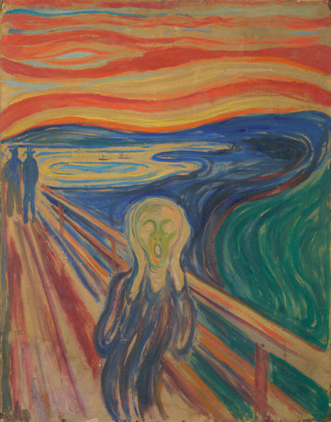 エドヴァルド・ムンク《叫び》テンペラ・油彩