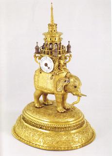 エラスムス・ビーアンブルナー《象の形をしたからくり時計》