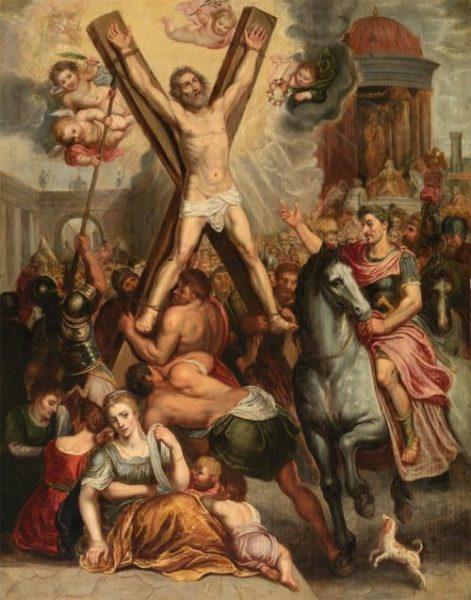 オットー・ファン・フェーン《聖アンデレの殉教》