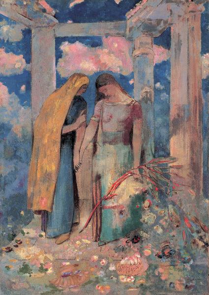 オディロン・ルドン《神秘的な対話》