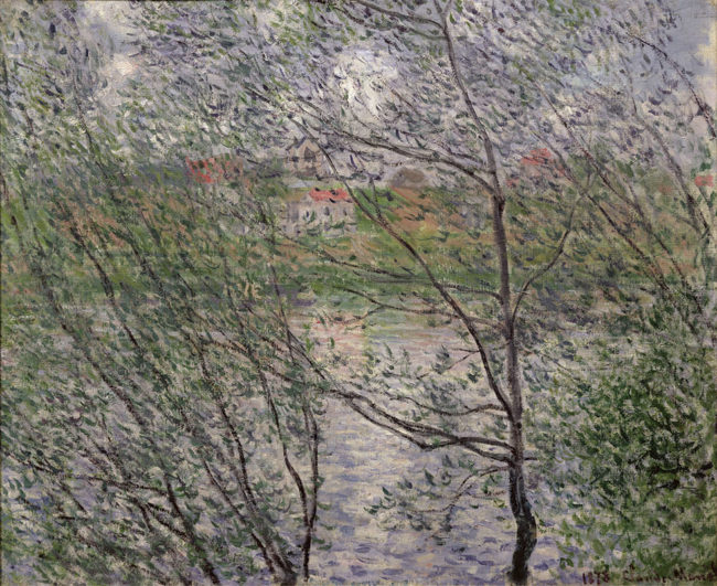 クロード・モネ 《木の間越しの春》