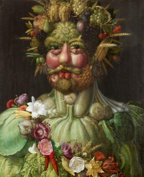ジュゼッペ・アルチンボルド 《ウェルトゥムヌスとしての皇帝ルドルフ2世像》