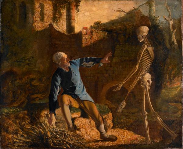 ジョセフ・ライト《老人と死》