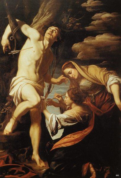 シモン・ヴーエ《聖イレネに治療される聖セバスティアヌス》