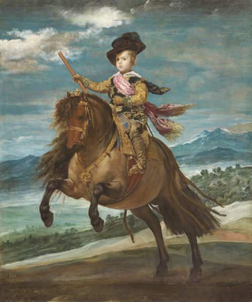 ディエゴ・ベラスケス《王太子バルタサール・カルロス騎馬像》
