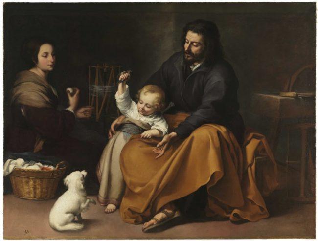 バルトロメ・エステバン・ムリーリョ《小鳥のいる聖家族》