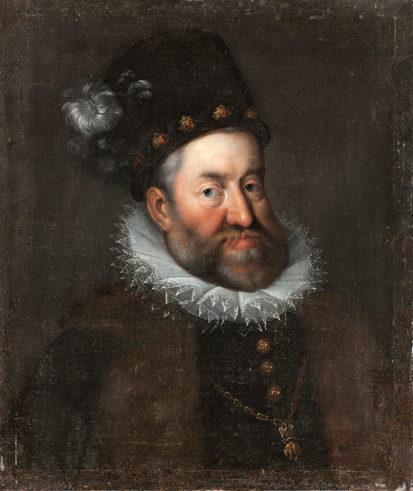 ハンス・フォン・アーヘン作のコピー《ハプスブルク家、神聖ローマ帝国皇帝ルドルフ2世の肖像》