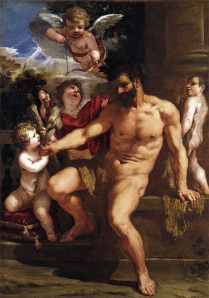 ピエトロ・ダ・コルトーナ (本名ピエトロ・ベッレッティーニ)《懲罰を受けるヘラクレス》