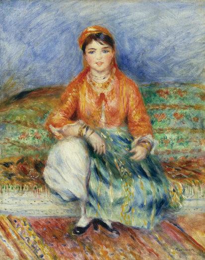 ピエール=オーギュスト・ルノワール 《アルジェリアの娘》