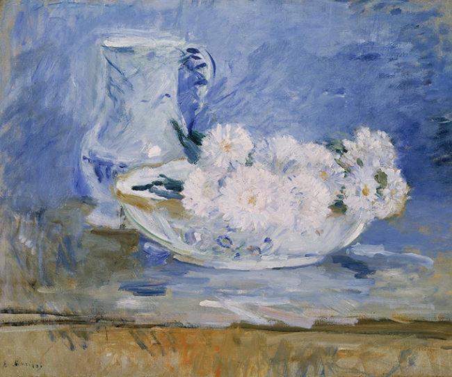 ベルト・モリゾ 《器の中の白い花》