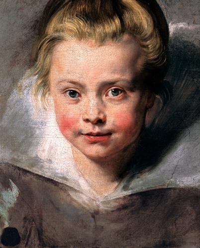 ペーテル・パウル・ルーベンス《クララ・セレーナ・ルーベンスの肖像》