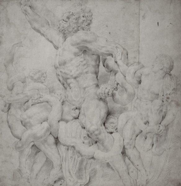 ペーテル・パウル・ルーベンス《ラオコーン群像》の模写素描