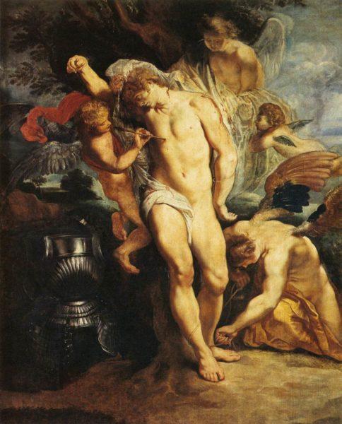 ペーテル・パウル・ルーベンス《天使に治療される聖セバスティアヌス》