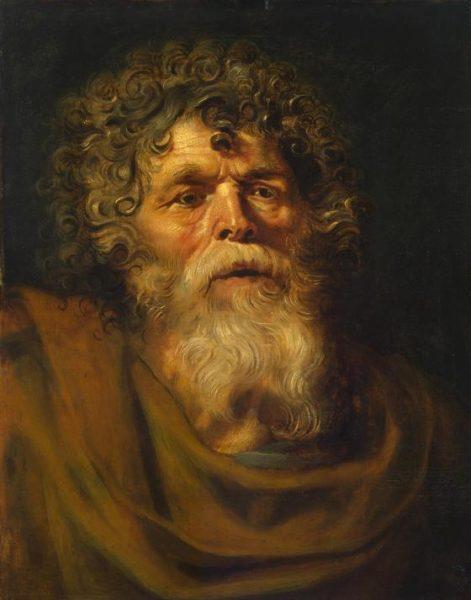 ペーテル・パウル・ルーベンス《老人の頭部》