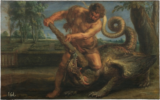ペーテル・パウル・ルーベンス とフランス・スネイデルス《ヘスペリデスの園で龍と闘うヘラクレス》