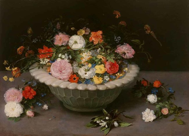 ヤン·ブリューゲル(父)《花卉》