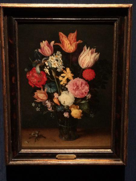 ヤン・ブリューゲル1世 ヤン・ブリューゲル2世《机上の花瓶に入ったチューリップと薔薇》