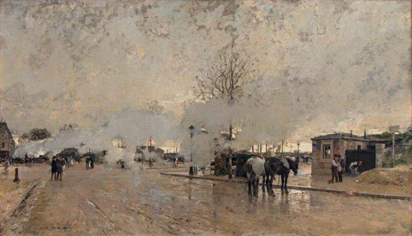 ルイジ・ロワール《パリ環状鉄道の煙(パリ郊外)》