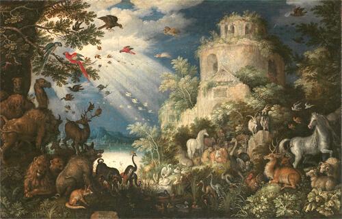 ルーラント・サーフェリー《動物に音楽を奏でるオルフェウス》