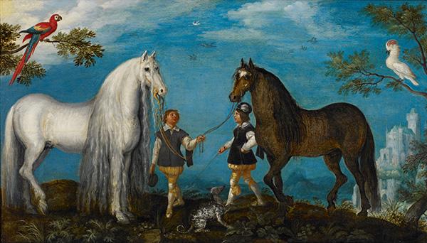 ルーラント・サーフェリー《2 頭の馬と馬丁たち》