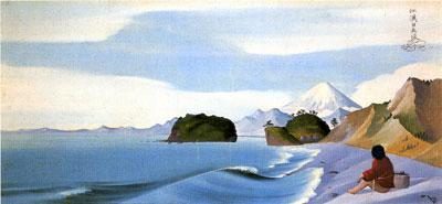 司馬江漢《七里ヶ浜図》