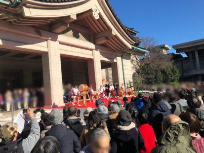 正月の東京国立博物館での和太鼓