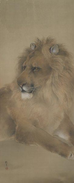 木島櫻谷《獅子図》