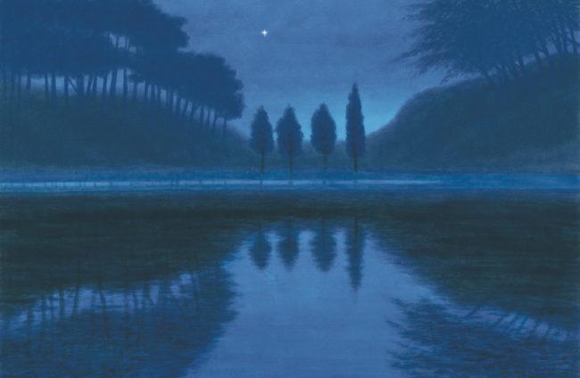 東山魁夷《夕星》