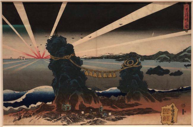 歌川国貞《二見浦曙の圖》