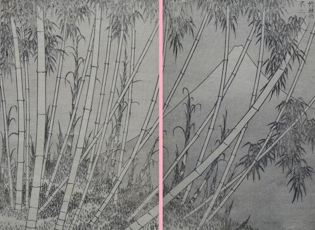 葛飾北斎 『富嶽百景』二編「竹林の不二」